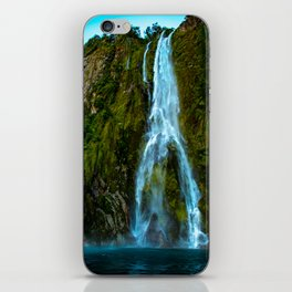 Fiordland Waterfall - Milford Sound, New Zealand iPhone Skin