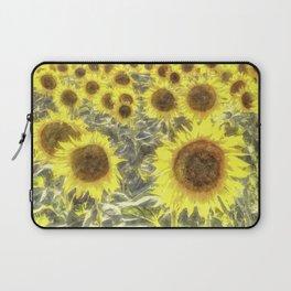 Sunflower Fields Of Summer Watercolour Laptop Sleeve