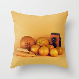 Orange carrots - still life Throw Pillow