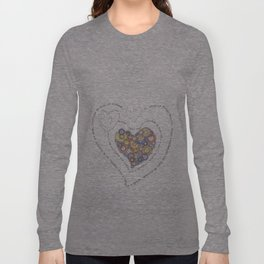 Graphic poem about love in Portuguese Long Sleeve T-shirt