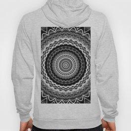 Black and White Mandala Hoody