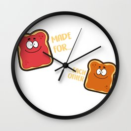 Made for each other Wall Clock