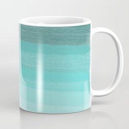 Blue brush abstract art stripes Coffee Mug
