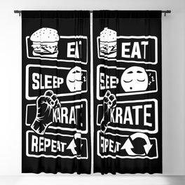 Eat Sleep Karate Repeat - Martial Arts Defence Blackout Curtain