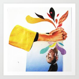 Squeeze Collage Art Print