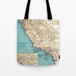 So Cal Surf Map Tote Bag