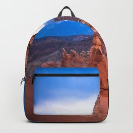 Delicate - Delicate Arch Glows on Rainy Day in Utah Desert Backpack