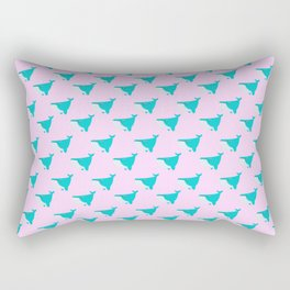 Blue and Pink Whales Rectangular Pillow