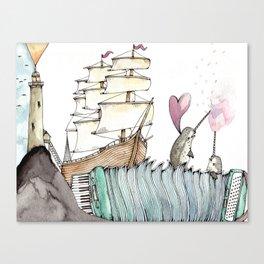 Accordion Sea Canvas Print