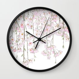 pink cherry blossom spring 2018 Wall Clock