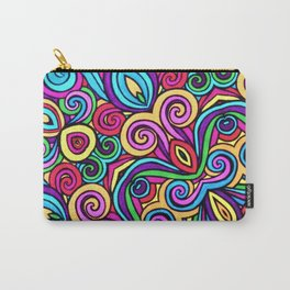 Saratoga Rainbow Swirls Absract Carry-All Pouch