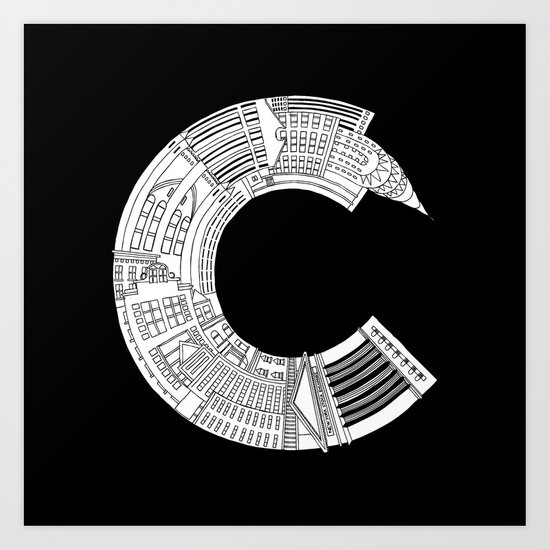 C - from NYC Art Print