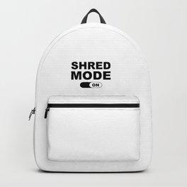 Shred Mode On Backpack