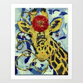 Ezmerelda The Giraffe Art Print