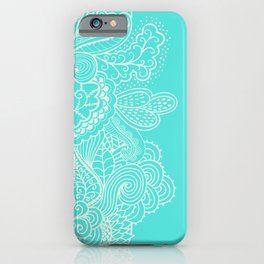 Mehndi Turquoise iPhone Case