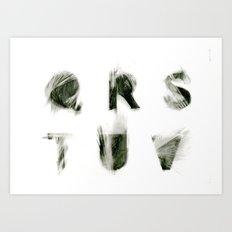 Q R S T U V  Art Print