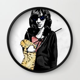 Cat and JoeyRamone Wall Clock