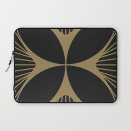 Diamond Series Floral Cross Gold on Charcoal Laptop Sleeve