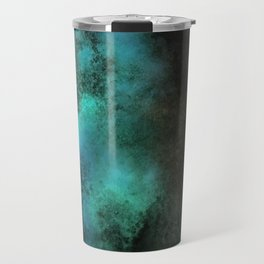 Painting Under UV Spectrum, Unique Blend Of Colors, Original Contemporary Artwork, Copper Travel Mug