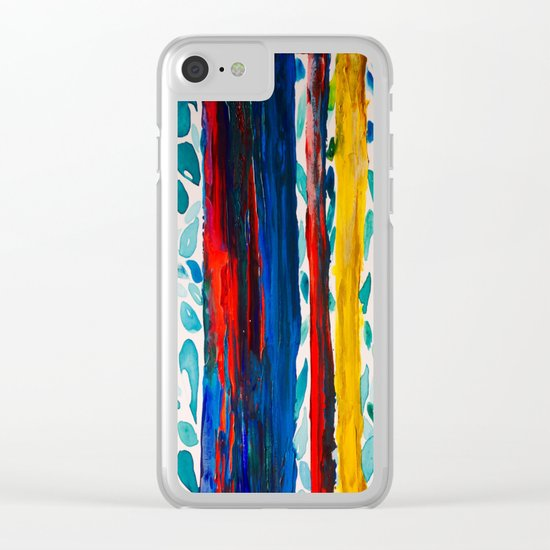 Rainbow Eucalyptus Graffiti Artist Tree naturally shedding bark from the South Pacific Clear iPhone Case