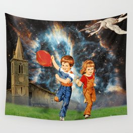 Space Balloon Wall Tapestry