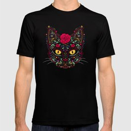 Day of the Dead Kitty Cat Sugar Skull T-shirt