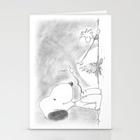 woodstock Stationery Cards featuring Snoopy and Woodstock by Dennis Rios