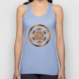 Metatron Cube Gold Unisex Tank Top