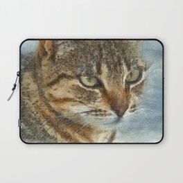 Stunning Tabby Cat Close Up Portrait Laptop Sleeve