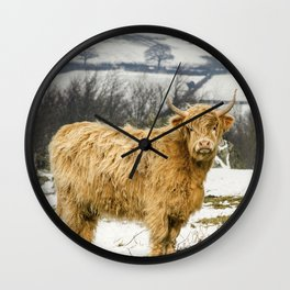 The Highland Cow Wall Clock