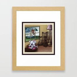 """""""Like cats and dogs"""" - Page 1 Framed Art Print"""