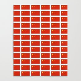 flag of china -中国,chinese,han,柑,Shanghai,Beijing,confucius,I Ching,taoism. Poster