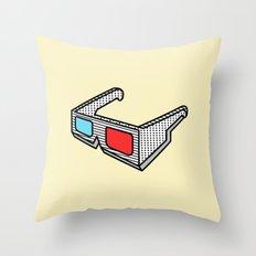 3d glasses Throw Pillow