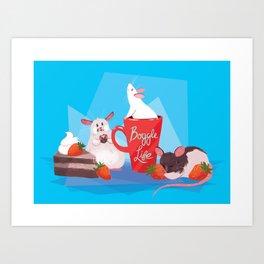 Rat Party! Art Print