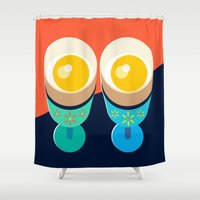 egg Shower Curtains featuring Egg by Sam Osborne