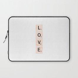 Scrabble LOVE Vertical Laptop Sleeve