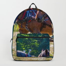 #Working with the #Belgian #draft #horse Backpack