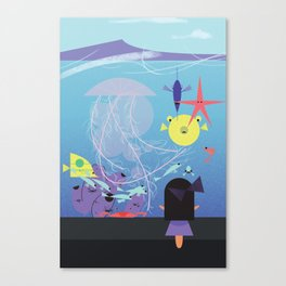 Honolulu Aquarium Poster Canvas Print