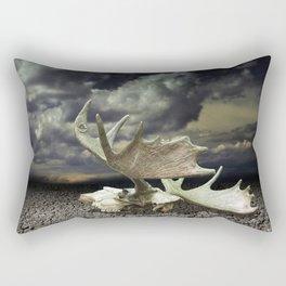 Moose Skull Rectangular Pillow