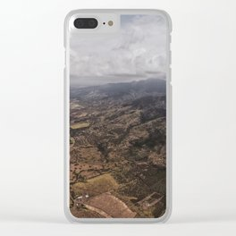 Skydiving Over Oahu Clear iPhone Case