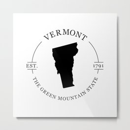 Vermont - The Green Mountain State Metal Print
