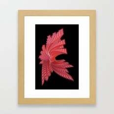 Red Glass Abstract Framed Art Print