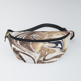 Liquid Bronze and Marble Fanny Pack