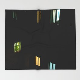 Live at night Throw Blanket
