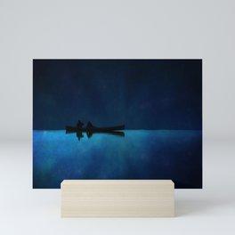 Canoe at Night Mini Art Print