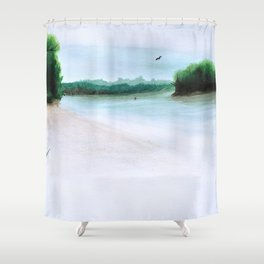 The Middl Grounds Shower Curtain