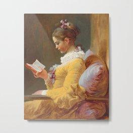 A Young Girl Reading, Jean-Honore Fragonard, 1770 Metal Print