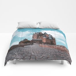 Burg Eltz Castle Germany Up in the Clouds Comforters