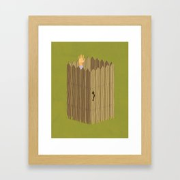 The Neighbor Gap Framed Art Print