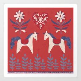 Swedish Christmas 2 Art Print